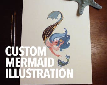 Custom Original Mermaid Illustration