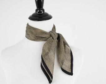 Vintage Sheer Silk Chiffon Small Square Scarf