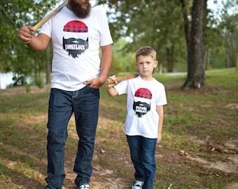 Father Son Shirts - Dad and Baby Matching Shirts - Dad and Son Shirts - Lumberjack Shirts - Father Son Matching Shirts - Vader Zoon Shirts