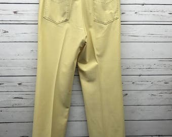 Mens vintage 70's yellow slacks size 38x34