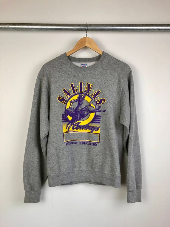 Vintage Salinas, California Physical Education Men's Crew Neck Sweatshirt Size Small