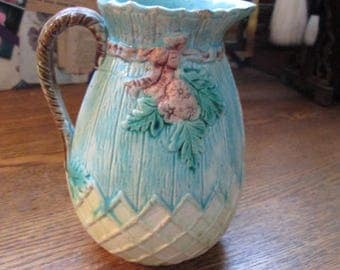 Antique Majolica Cream Pitcher