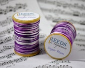 Sugar Plum, Purple to White Varigated Hand-Dyed Reed Thread (FF)