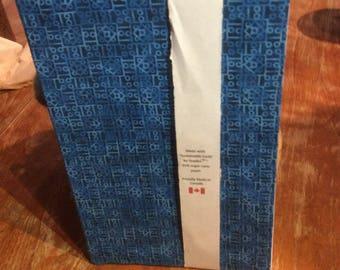 Hand Bound Journal - Blue Batik print cover - lined paper