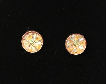 12mm Sparkling Dandelion Stud Earrings