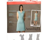 Simplicity 2404, Women's Dress Pattern, Amazing Fit, Raised Waistline Seam, Size 6-14 Uncut Pattern