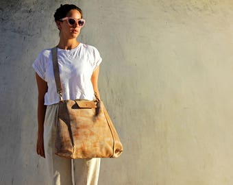 Brown leather tote, Leather tote, Tote bag, Large leather tote, Oversize handbag, brown leather bag, Large leather bag, tote with pockets