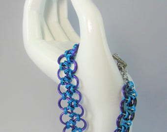 Reversible Japanese Lace Chainmaille Bracelet