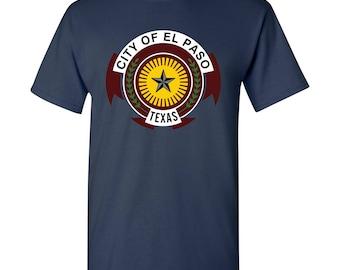 El Paso City Flag T Shirt - Navy