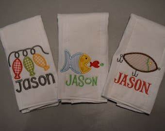 Personalized Monogrammed Burp Cloths
