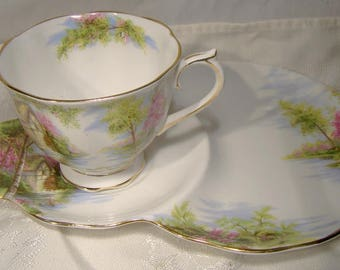 Royal Albert The Old Mill Hostess or Tennis Cup and Saucer