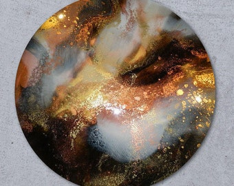 75cm Resin Art Abstract Painting - ORBIT
