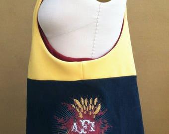 AFI Bag • Black Upcycled T-shirt Purse • Hobo Bag • AFI Tshirt Bag