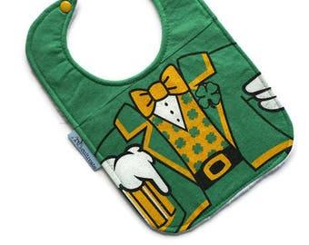 St Patrick's Day Baby Bib • Leprechaun Baby Bib • Tshirt Bib • Baby Shower Gift