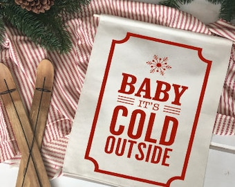 Baby Its Cold Outside/ Christmas wall decor/ christmas decoration/ wall hanging/ farmhouse christmas/ christmas sign/ modern christmas
