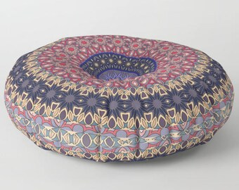 Pouf Seating, Indian Floor Cushion, Mandala Floor Pillow, Mandala Cushion, Indian Cushions Round Floor Cushions, Floor Pillow Cushion