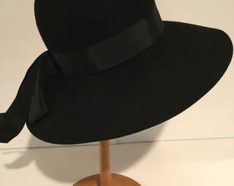 Glenover Henry Pollack Fawn Tra Felt Black Hat