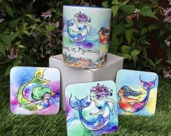 mermaid mug believe in mermaids