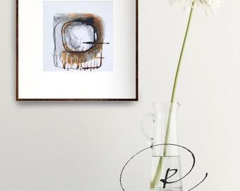 Original abstract art, abstract art, circle abstract, minimalist art, original ink art, minimalist ink drawing, ink art, abstract painting