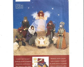 Vogue 9533 Pattern for Nativity Set Christmas Decoration Creche, Manger Scene, FACTORY Folded, UNCUT, Linda Carr, From 1996, Vintage Crafts