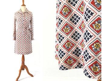 1970s shirt dress, 1970s clothing, womens dress, vintage dress, vintage clothing, cotton dress, t shirt dress