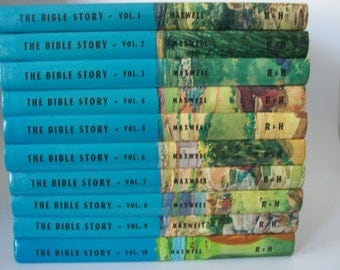 Vintage The Bible Story by Maxwell Volumes 1-10