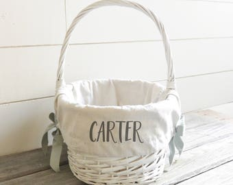 Personalized easter basket etsy au personalized easter basket liner customized easter gift basket negle Gallery