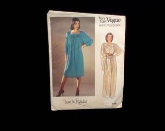 Vintage Vogue Sewing Pattern Uncut No. 1168 Diane Von Furstenberg Dress Size8-10-12