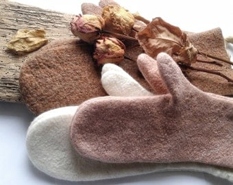 READY TO SHIP !!! Felted mittens Wool gloves Women gloves Fall accessories Christmas gift Merino mittens Arm warmers