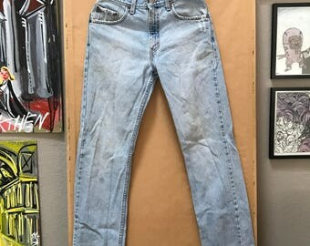Vintage 90's Levi's 505's Made in USA Levis Jeans Regular Fit Straight Leg 505 1990's Faded High Waisted Thrashed