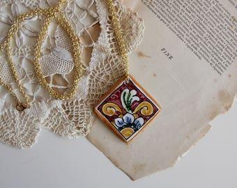 Ceramic sicily necklace