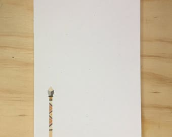 vintage inspired arrow notepad, stationery, to do list, gift for her
