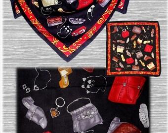 "Vintage BRIGHTON Scarf, Silk Scarf, Accessories, Vintage Silk Scarf, 21"", Square,  Head Wrap, Multi Color, Accessory Pattern, Head Scarf"