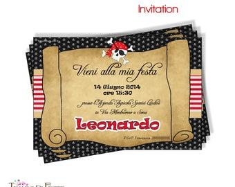 PIRATA printable invitation