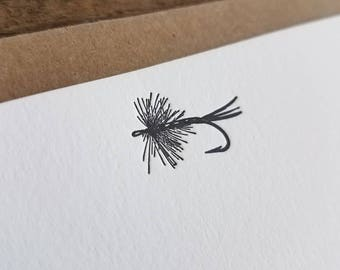 Fly Fishing | Letterpress Flat Notecards Set of 10