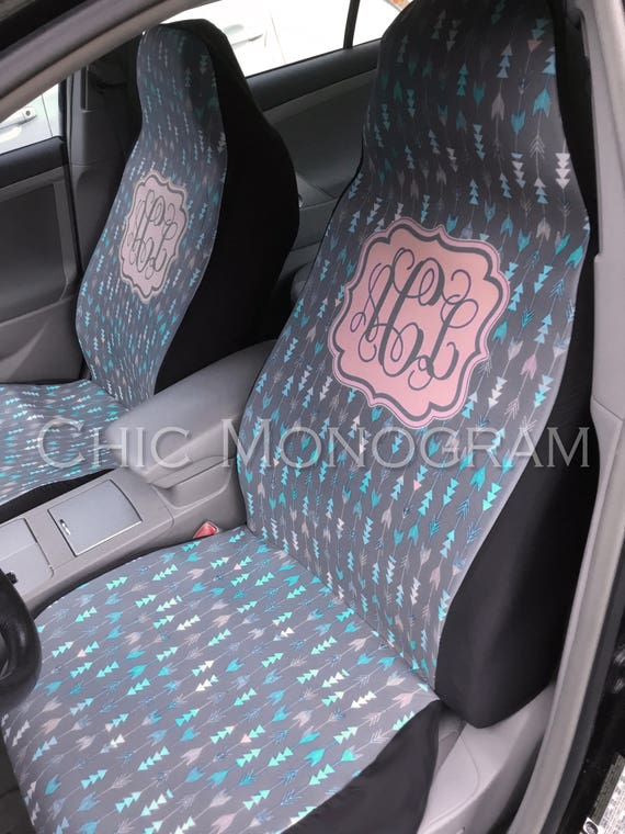 Aztec Car Seat Covers Set of Two Front Seat Covers Tribal Monogrammed Personalized Aztec Car Accessories Seat Covers For Car For Vehicle