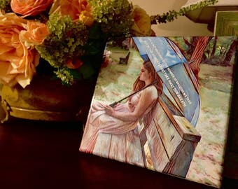 Tutuorial, Crafts, Instant PDF Digital Download, Tutorial, How to Make a Simple PIcture Canvas
