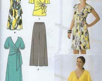 Simplicity 2369  Misses' Knit Dress in two lengths Or Tunic And Pants  Size (16-24)  UNCUT