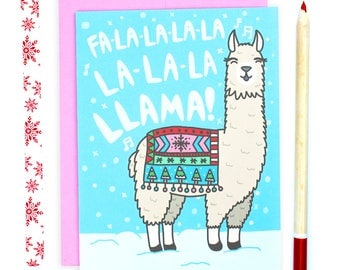 Funny Llama Christmas Card, Llama Holiday Card, Funny Christmas Card, Funny Holiday Card, Xmas Card, Funny Animal Christmas Card, Cute Xmas