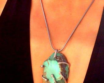 Glacier - Unique Handcrafted Genuine Turquoise Necklace