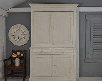 Vintage Shabby Chic French Louis Philippe Buffet de Corps / Kitchen Dresser- FREE UK DELIVERY