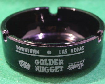 Vintage Downtown Las Vegas Golden Nugget Gambling Hall Casino ashtray.