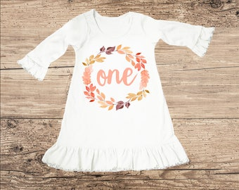 Fall Birthday Dress for One Year Old, First Birthday Outfit