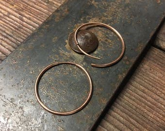 Rose Gold 1 Inch Hoop Earring - Seamless Hoops
