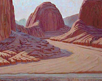 Lake Powell 'Temple Wash' - framed - original landscape - desert painting - turquoise - southwestern decor - large - wall art