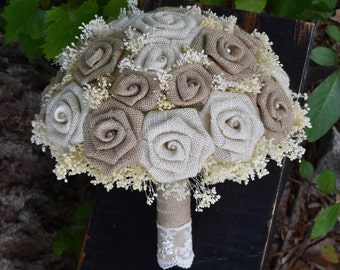 Wedding Bouquet, Burlap Bouquet, Rustic Bouquet, Wedding Bouquet, Bouquet, Woodland Bouquet ,Winter Bouquet, Burlap Bouquet, Ivory Bouquet
