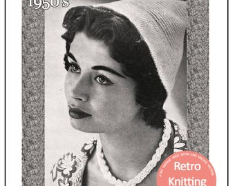1950's Pixie Hat Knitting Pattern - PDF Instant Download