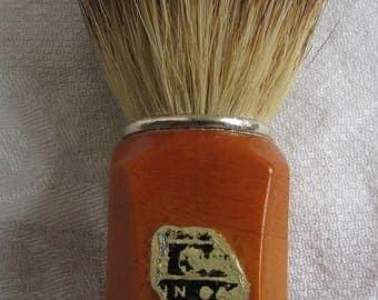 Vintage Red and Carmel Bakelite Shaving Brush