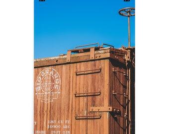 Photo paper poster - Red Silo Original Art - Rio Grande Train Car