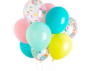 Ice Cream Balloons, Ice Cream Party, Sprinkle Balloons
